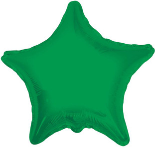 "19"" Green Star Foil Balloon 1ct # 17857"