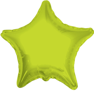 lime green star balloon
