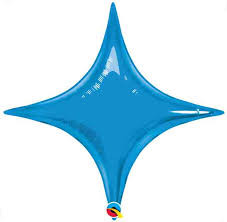 "20"" Sapphire Blue Star Point Air Fill Only 1ct"