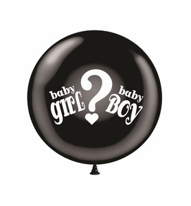 "24"" Gender Reveal Balloon ""Boy or Girl"" 1ct"