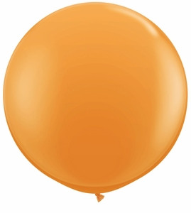 "24"" Jewel Tangerine Transparent Round Latex Balloons 1ct #24483"
