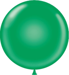 "24"" Green Round Latex Balloons 1ct #2404"