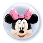 "24"" Minnie Double Bubble Balloon 1ct"