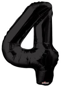 """34"""" Black # 4 Balloon"""