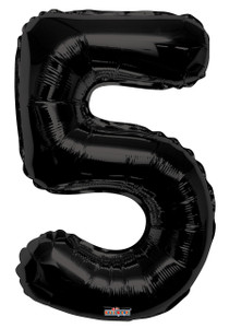 "34"" Black # 5 Balloon"