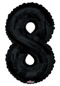"34"" Black # 8 Balloon"