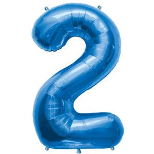 "34"" Blue # 2 Balloon"