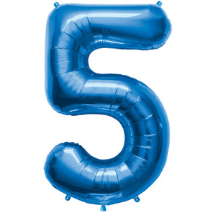 "34"" Blue # 5 Balloon"