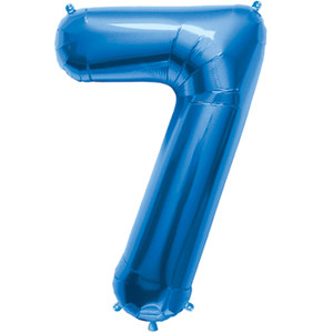 "34"" Blue # 7 Balloon"