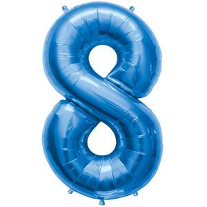 "34"" Blue # 8 Balloon"