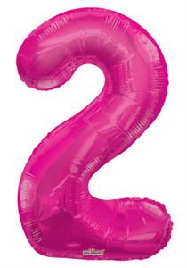 """34"""" Magenta # 2 Balloon"""
