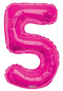 """34"""" Magenta # 5 Balloon"""