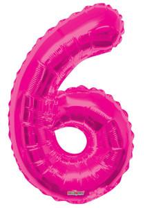 """34"""" Magenta # 6 Balloon"""