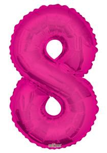 """34"""" Magenta # 8 Balloon"""