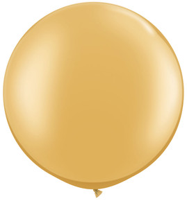"36"" Gold Round Latex Balloon"