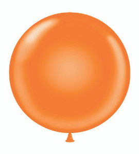 "36"" Orange Round Latex Balloons"