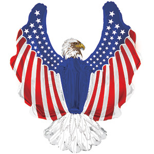 "36"" Patriotic Eagle Shape Balloon 1ct #434157"