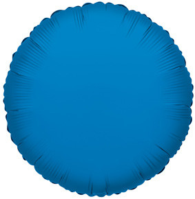 "4"" Blue Circle  Foil Balloon Air Fill Only 1ct #34080"