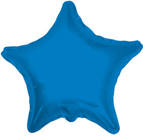 "4"" Blue Star Foil Balloon 1ct"