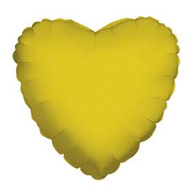 "4"" Gold Heart Foil Balloon Air Fill Only 1ct #34108-04"