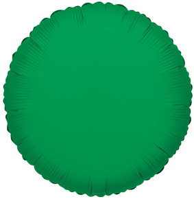"4"" Green Circle Foil Balloon Air Fill Only 1ct #34052"