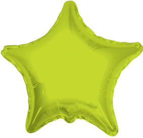 "4"" Lime Star Foil Balloon 1ct"