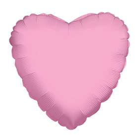 "4"" Pink Hearts Foil Balloon Air Fill Only  1ct #34111-04"