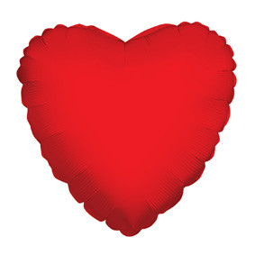 "4"" Red Heart Foil Balloon Air Fill Only 1ct #34110-04"