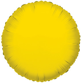 "4"" Yellow Circle Foil Balloon Air Fill Only 1ct #34049"