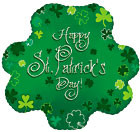 "18"" Happy St.Patrick's Day Clover Balloon 1ct"