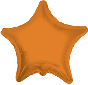 "4"" Orange Star Foil Balloon 1ct"