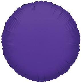 "4"" Purple Circle Foil Balloon Air Fill Only 1ct #34054"