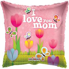 "18"" I love Mom Tulips Balloons 1ct #84138"