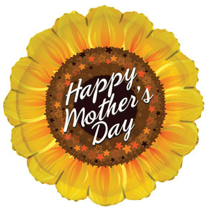 "18"" Happy Mother's Day Sunflower Shape Balloon 1ct #84187"