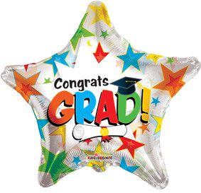 "18"" Congrats Grad Clear Balloon1ct #85190"