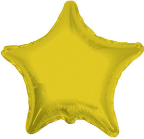 "9"" Mini Gold Star Foil Balloon Air Fill 1ct"