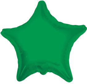 "9"" Mini Green Stars Foil Balloon Air Fill Only 1ct #34021-09"