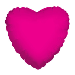 "9"" Mini Hot Pink Heart Foil Balloon Air Fill Only 1ct #34105-09"
