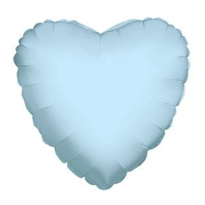 "9"" Mini Light Blue Heart Foil Balloon Air Fill Only 1ct #34100-09"