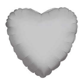 "9"" Mini Silver Heart Foil Balloon Air Fill Only 1ct #34109-09"