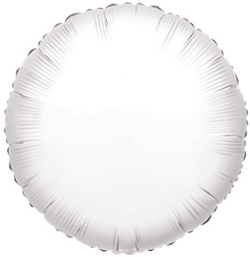 "9"" Mini White Circle Foil Balloons Air Fill Only 1ct #34069"
