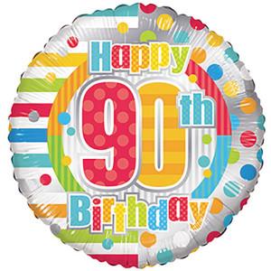 "18"" 90th Birthday Balloons 1ct"