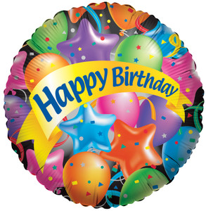 "9"" Mini Birthday Festive Balloons 1ct"
