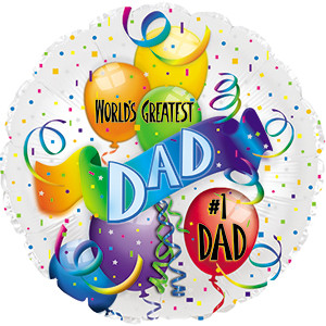 "9"" Mini Father's Day Balloons World's Greatest Dad 1ct"