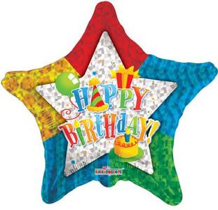 "9"" Birthday Star Mini Foil Balloon 1ct"
