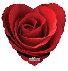 """9"""" Foil Classic Rose 1ct"""