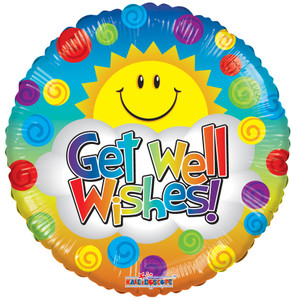 "9"" Get Well Sunshine Foil Balloons 1ct"