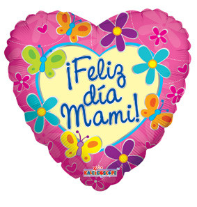 "9"" Mini Feliz Dia Mami Heart Shape 1ct #34640"