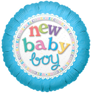 "9"" Mini New Baby Boy  Air Fill 1ct #17511"