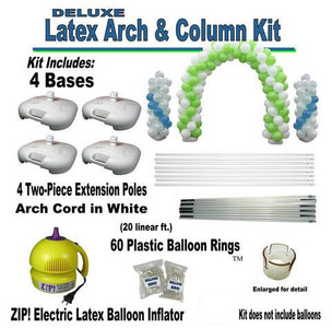 deluxe latex balloon arch column kit re useable free ship